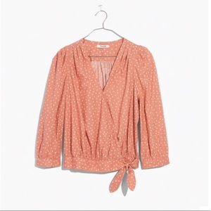 Madewell Wrap Top Coral